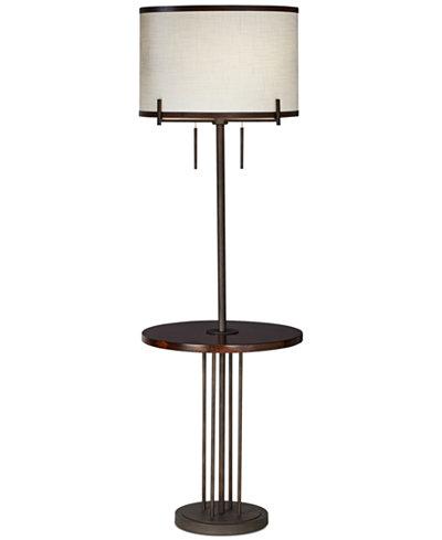Pacific coast soledad floor lamp with tray lighting for Macy s torchiere floor lamp