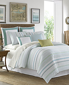 Tommy Bahama Home La Scala Breezer Seaglass 4-pc Bedding Collection, 100% Cotton