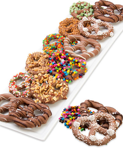 Chocolate Covered Company 12-Pc. Ultimate Belgian Chocolate Dipped Pretzel Twist Collection