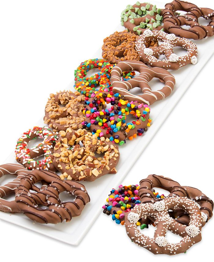 Chocolate Covered Company - 12-Pc. Ultimate Belgian Chocolate Dipped Pretzel Twist Collection