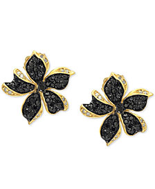 EFFY® Diamond Flower Stud Earrings (1 ct. t.w.) in 14k Gold