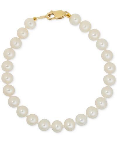 Children's White Cultured Freshwater Pearl (4-1/2mm) Bracelet
