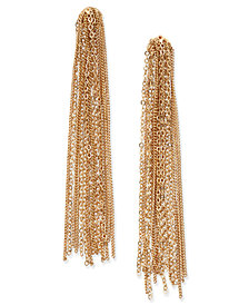 Thalia Sodi Gold-Tone Tassel Chain Linear Earrings, Created for Macy's