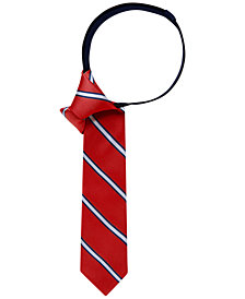 Tommy Hilfiger Repp Stripe Zipper Tie, Big Boys