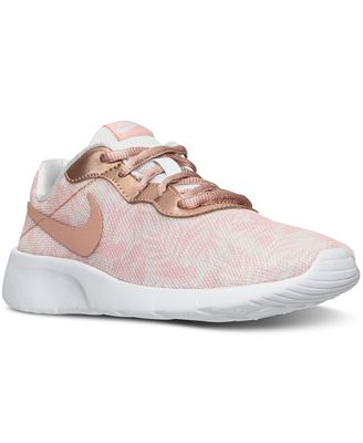 Nike Big Girls' Tanjun Print Casual Sneakers from Finish Line