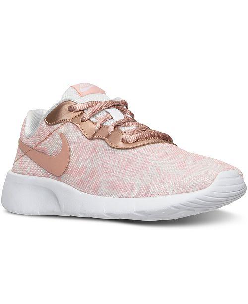 9edaf18485 Nike Big Girls' Tanjun Print Casual Sneakers from Finish Line ...