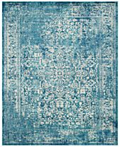 CLOSEOUT! Safavieh Evoke EVK256C Blue/Ivory Area Rugs