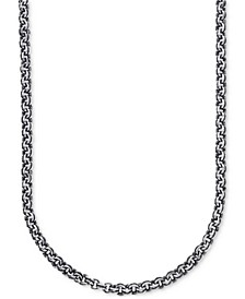 Antique-Look Double Rolo Chain Necklace in Sterling Silver, Created for Macy's