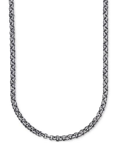 Esquire Men's Jewelry Antique-Look Double Rolo Chain ...