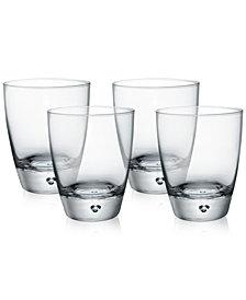 Bormioli Rocco Luna Set of 4 Double Old-Fashioned Glasses