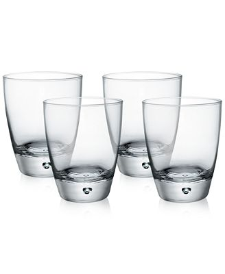 Bormioli Rocco Luna Set of 4 Double Old-Fashioned Glasses