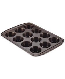 Circulon Symmetry Nonstick Chocolate Brown 12-Cup Muffin Pan