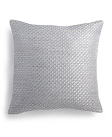 "Calvin Klein Stepped Twill 14"" Square Decorative Pillow"