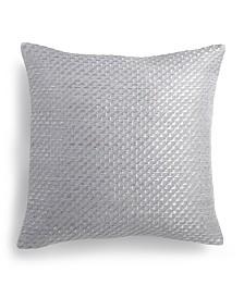 "Calvin Klein Stepped Twill 14"" Square Decorative Pillow"