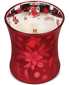 WoodWick Medium Holiday Crimson Berries Dancing Glass Candle