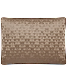 CLOSEOUT! Hotel Collection Woven Texture Red Quilted Standard Sham, Created for Macy's