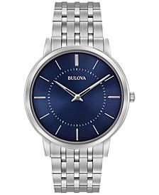 Men's Dress Stainless Steel Bracelet Watch 40mm 96A188