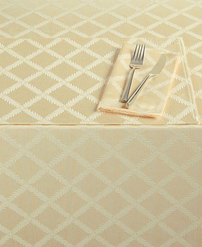 """Lenox - Laurel Leaf Tablecloth, 70"""" x 104"""""""