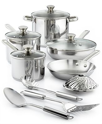 Tools Of The Trade Stainless Steel 13 Pc Cookware Set Created For