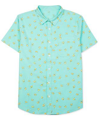 Jem Men's Pokémon Pikachu Graphic-Print Short-Sleeve Shirt ...