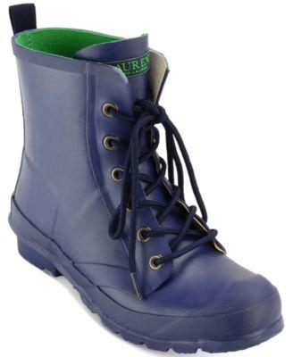 Lauren Ralph Lauren Mikenna Lace-Up Rain Boots