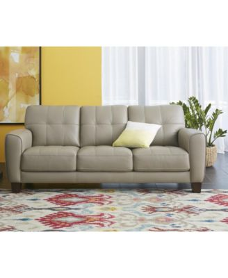 Image 4 Of Kaleb Tufted Leather Sofa Collection, Created For Macyu0027s