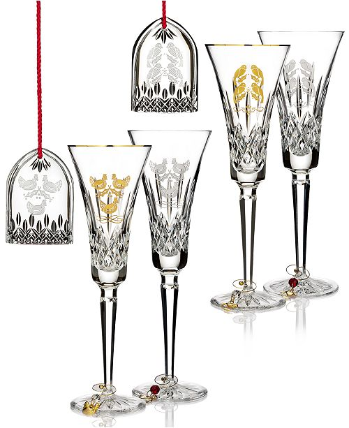 Waterford 12 Days Lismore Three French Hens and Four Calling Birds Collection
