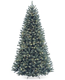 7.5' North Valley Spruce Blue Hinged Christmas Tree with 700 Clear Lights