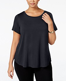 Plus High-Low T-Shirt, Created for Macy's