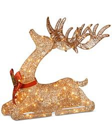 """National Tree 31"""" Prelit Resting Reindeer"""