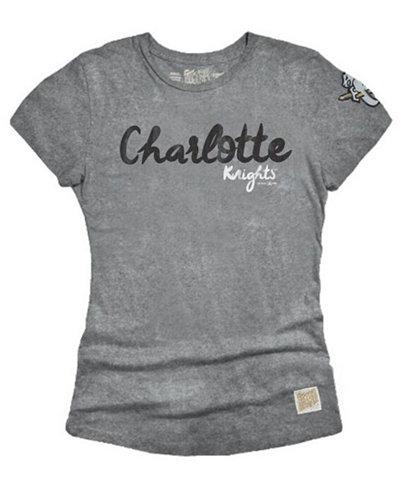 Retro Brand Women's Charlotte Knights Streaky Tri-Blend T-Shirt