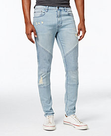 Jaywalker Men's Destructed Moto Jeans, Created for Macy's