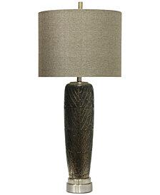 StyleCraft Metallic Leaf Vein Motif Ceramic Table Lamp