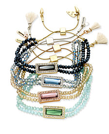 Ionna & lilly Beaded Slider Bracelet Collection