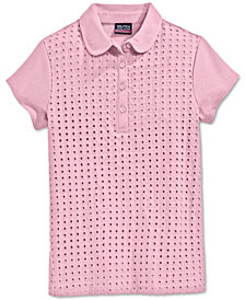 Nautica School Uniform Eyelet Polo Shirt, Big Girls Plus (7-16)