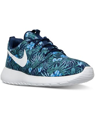 ... Nike Mens Roshe One Print Premium Casual Sneakers from Finish Line ...