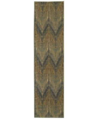 "Voyage 508X Blue 1' 10"" x 7' 6"" Runner Area Rug"