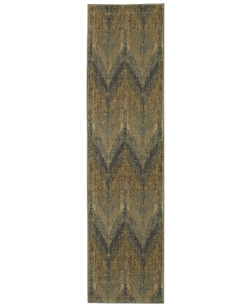 "Tommy Bahama Home Voyage 508X Blue 1' 10"" x 7' 6"" Runner Area Rug"