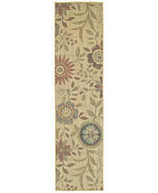 "Tommy Bahama Home Cabana Indoor/Outdoor 1330W Beige 1' 10"" x 7' 6"" Runner Area Rug"