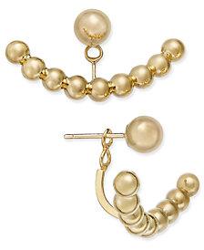 Ball Stud Earring Jackets in 14k Gold