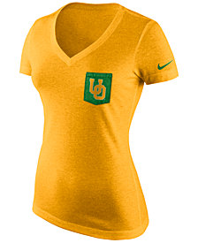 Nike Women's Oregon Ducks Tri Mid-V Pocket T-Shirt