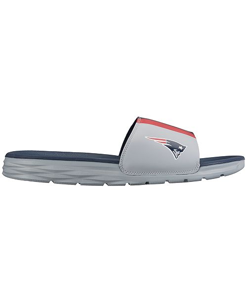 check out 1936d 47244 ... Nike Men s New England Patriots Benassi Solarsoft Slides ...