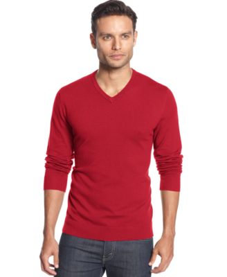 Image of Alfani Men's V-Neck Sweater, Only at Macy's