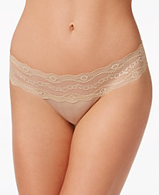 b.tempt'd by Wacoal b.adorable Lace-Waistband Thong 933182