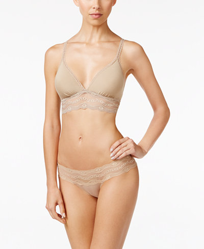 b.tempt'd by Wacoal b.adorable Lace-Trim Bralette & Bikini
