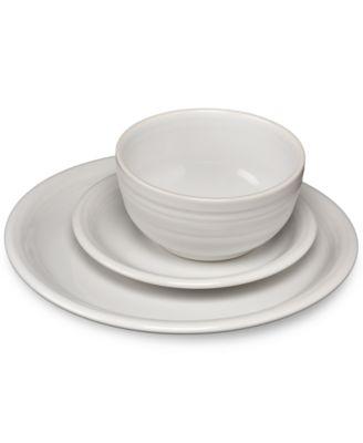 main image  sc 1 st  Macyu0027s & Fiesta White 3-Pc. Bistro Set - Dinnerware - Dining u0026 Entertaining ...