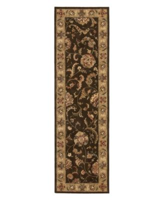 "Area Rug, Nourison 2000 2206 Brown 2'6"" x 12' Runner Rug"