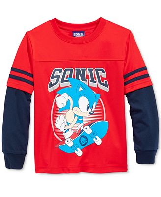 Warner Brothers Little Boys' Long-Sleeve Sonic Graphic-Print T-Shirt