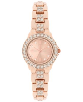 Image of INC International Concepts Women's Crystal Accent Bracelet Watch 26mm, Only at Macy's