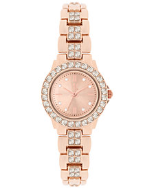 I.N.C. Women's Crystal Accent Bracelet Watch 26mm, Created for Macy's